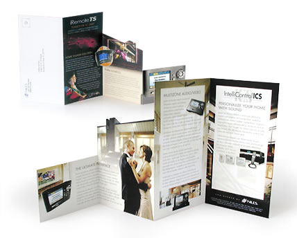 die cut self mailing brochure newsletter annual report flyers